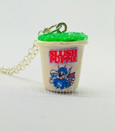 Slush Puppie Necklace (Lime)