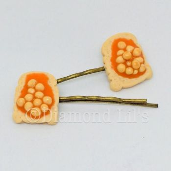 Beans On Toast Hair Slides