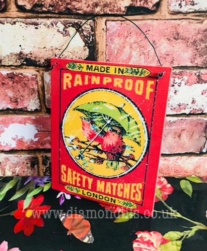 Retro Style 'Matches' Metal Sign