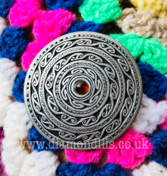Celtic Design Pewter Brooch