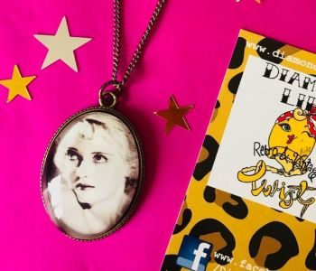 Bette Davis Cameo Hollywood Necklace