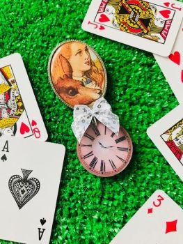 Alice In Wonderland Illustration Brooch