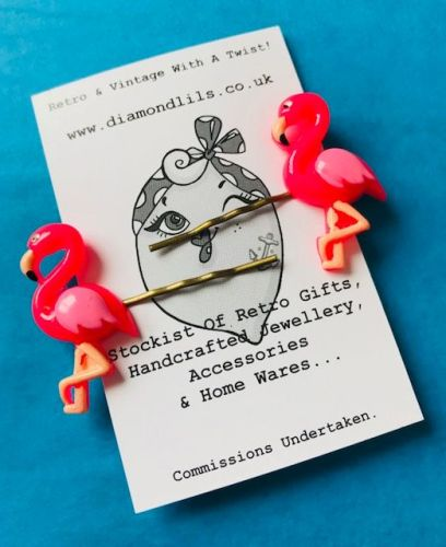 Funky Flamingo Hair Slides