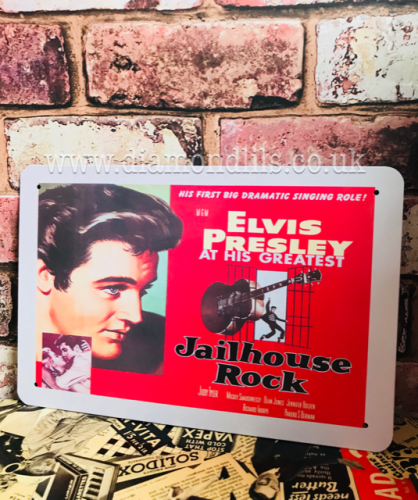 Elvis Jailhouse Rock Metal Sign