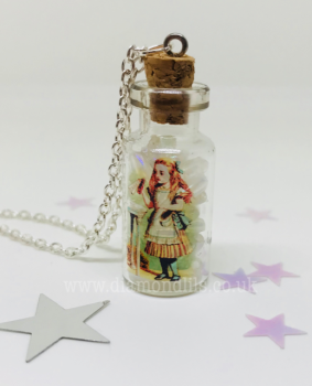 'Drink me' Glass Vial Necklace