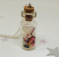 'I'm Late' Glass Vial Necklace