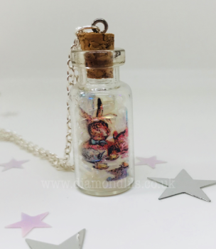 'Tea Party' Glass Vial Necklace