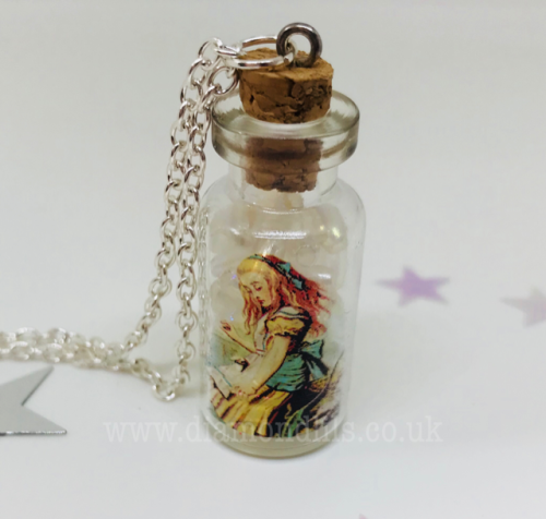 'Curiouser' Glass Vial Necklace