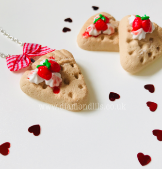 Strawberry Shortbread Necklace