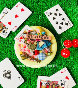 Alice In Wonderland Cluster Brooch