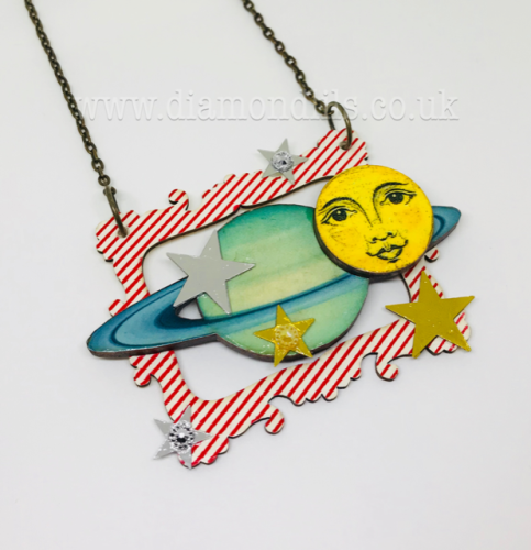 Picture This Wooden Galaxy Necklace