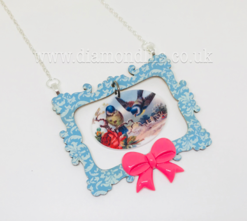 Picture This Wooden Blue Tit Necklace