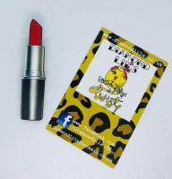 'Rocket Red' Lipstick Wooden Brooch
