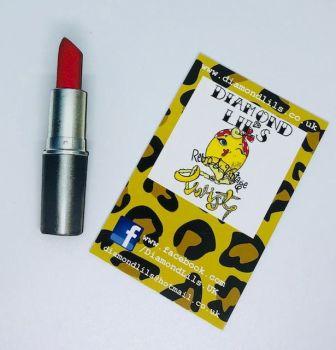 'Rocket Red' Lipstick Wooden Brooch