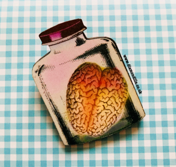 Pickled Brain Brooch (Pink)
