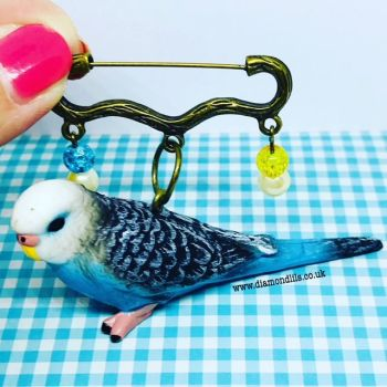 Billy Budgie Brooch