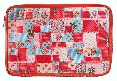 Pretty Shabby Chic Style PVC Laptop Case