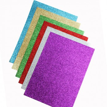 Glitter Paper - A4 - 210 x 297mm - Assorted - Pack of 12