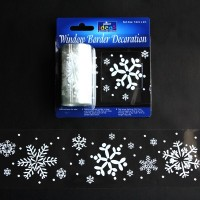 Snowflakes Window Border Decoration - 7.5cm x 2m - Pack of 2