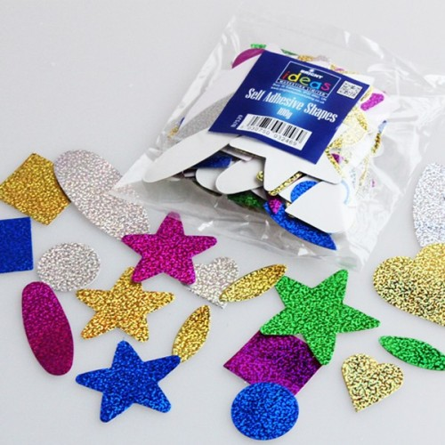 Self Adhesive Holographic Shapes - Assorted - Pack of 250