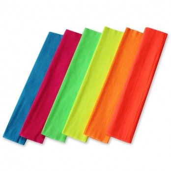 Fluorescent Crepe Paper - Assorted - 50cm x 2.5m - Pack of 6