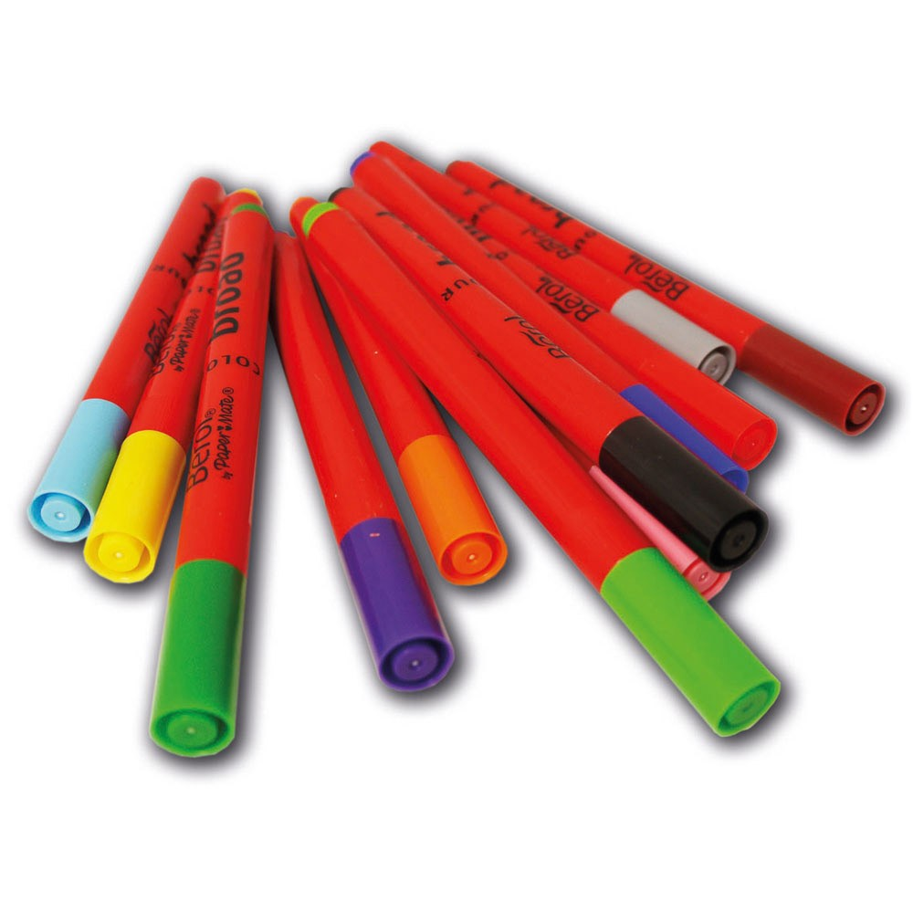 Safety Tip Of The Day >> Berol Colour Broad Colouring Pens - Please Select Colour - Pack of 12