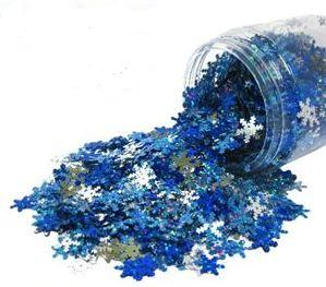Frozen Snowflake Sequins - 80g Bag