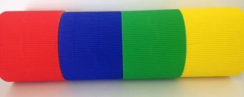 Corrugated Border Rolls - School House Colours - Educraft Scalloped Wavy Edge - 57mm x 7.5m - Assorted - Pack of 8