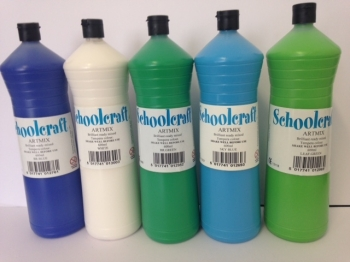Cool Colours Ready Mixed Paint Set - Assorted - 5 x 600ml - Pack of 5