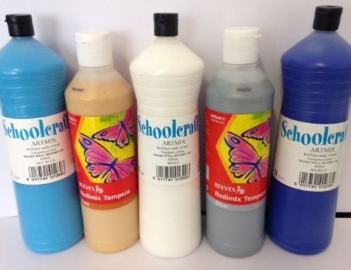 Frozen Ready Mixed Paint Set - Assorted - 3 x 600ml, 2 x 500ml - Pack of 5