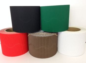 Corrugated Border Rolls - Christmas Reindeer - Educraft Scalloped Wavy Edge - 57mm x 7.5m - Assorted - Pack of 10