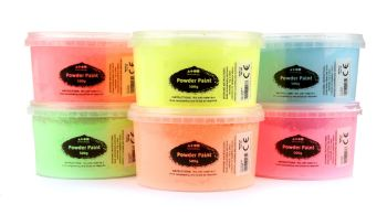 Fluorescent Powder Paint Set - Assorted - 6 x 500g - Pack of 6