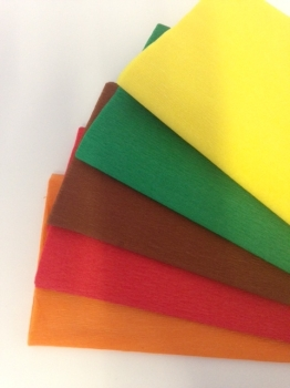 Autumn Crepe Paper - 51cm x 3m - Assorted - Pack of 12