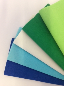 Cool Colours Crepe Paper - 51cm x 3m - Assorted - Pack of 12