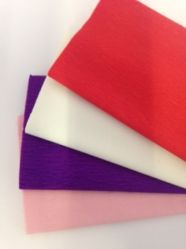 Valentines Crepe Paper - 51cm x 3m - Assorted - Pack of 12