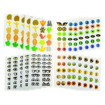 Eye Stickers - Assorted - 5 sheets of 4 Designs - Pack of 300