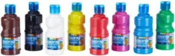 Giotto Early Years Washable Paint - Assorted - 8 x 250ml - Pack of 8
