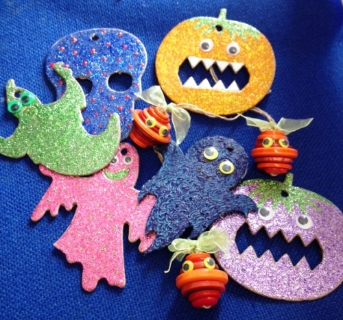 Halloween Card Cut-Outs - Assorted - Pack of 60