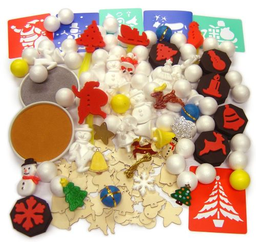 Christmas Craft Compendium - Assorted - Pack of over 140 pieces