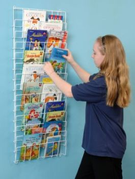 Vertical Wall Book Rack - 109 x 56 x 7cm - Each