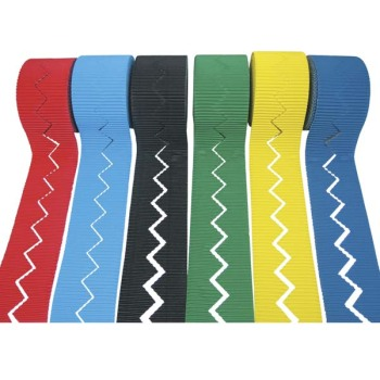 Corrugated Border Rolls - Zig-Zag Edge - Assorted - 57mm x 7.5m - Pack of 12