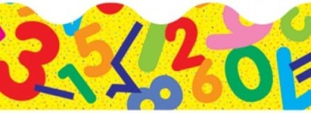 Numbers Maths Fun Border Trimmers - Pack of 12 x 1m Strips