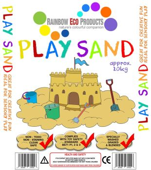 Childrens Play Sand - Soft Quartz - 20kg - Pallet of 10 bags