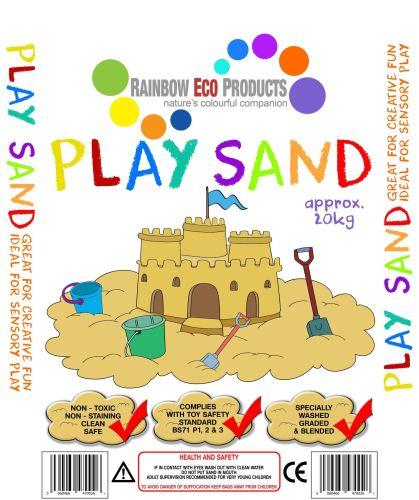 Childrens Play Sand - Soft Quartz - 20kg - Pallet of 20 bags