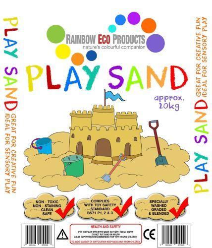 Childrens Play Sand - Soft Quartz - 20kg - Pallet of 50 bags