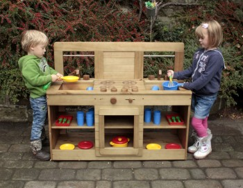 Outdoor Mud Kitchen - 112 x 46.5 x 92cm - Each