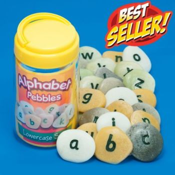 Alphabet Pebbles - Lowercase - Tub of 26