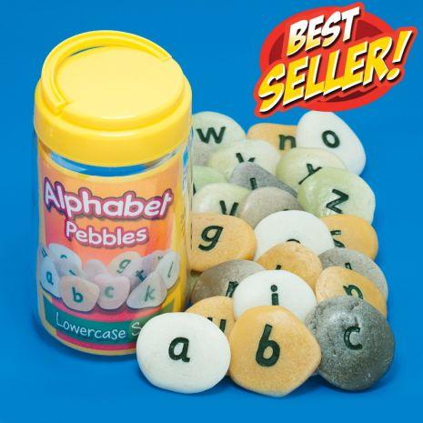 Alphabet Pebbles - Lowercase - Tub of 26