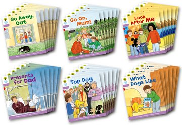 Biff, Chip and Kipper Level 1+ - More First Sentences Pack A - Assorted - Class Pack of 36