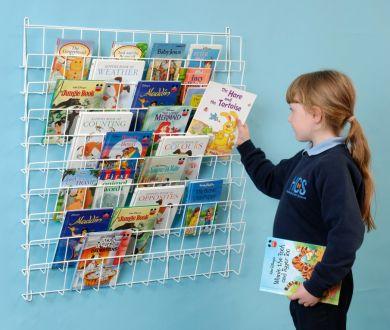 Square Wall Book Rack - 86 x 86 x 7cm - Each